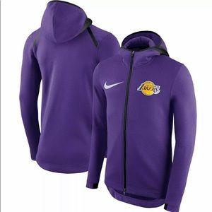 Nike Los Angeles LA Lakers Hoodie Sweater On Court